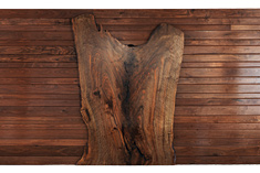 Bastogne Walnut Slab Wall, designed 2010